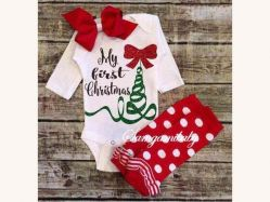 Baby Romper Chirstmas LB D - BY673