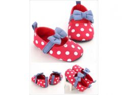 Shoes Prewalker PWS 3 C Red Polka Pita Biru - PL2070