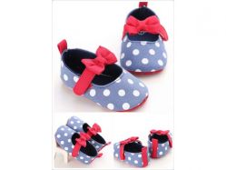 Shoes Prewalker PWS 3 D Blue Polka Pita Merah - PL2071