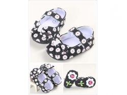 Shoes Prewalker PWS 3 K Black Flower - PL2074