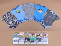 Carter's Blue Fly November A Boy 5 In 1 Bodysuit Tangan Pendek - BY734
