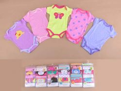 Carter's Blue Fly November A Girl 5 In 1 Bodysuit Tangan Pendek - BY735