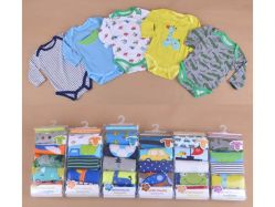 Carter's Blue Fly November B Boy 5 In 1 Bodysuit Tangan Panjang - BY736