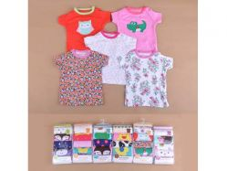 Carter's Blue Fly November H Girl 5 In 1 T-shirt Tangan Pendek Kancing Pundak - BY749