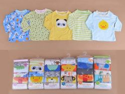 Carter's Blue Fly November I Boy 5 In 1 T-shirt Tangan Panjang Kancing Pundak - BY750