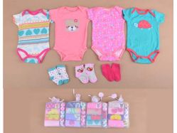 Carter's Blue Fly November L Girl Bodysuit Lengan Pendek + Socks - BY757