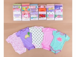 Carter's Blue Fly 5 in 1 Bodysuit Tangan Pendek A Girl - BY933