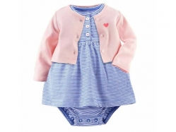 Baby Romper Skirt + Cardigan RG B - BY1032