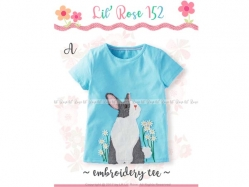 Embroidery Tee Girl LK 152 Kids A - GA1081