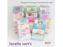 Boy Romper 4 in 1 Lovelle Cart's - BY1313