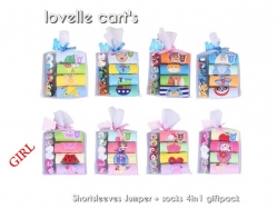 Girl Jumper + Socks 4 in 1 Lovelle Cart's - BY1308