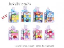 Boy Jumper + Socks 4 in 1 Lovelle Cart's - BY1309