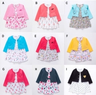 Baju Bayi Dress Cardigan Catell Love - BY1444
